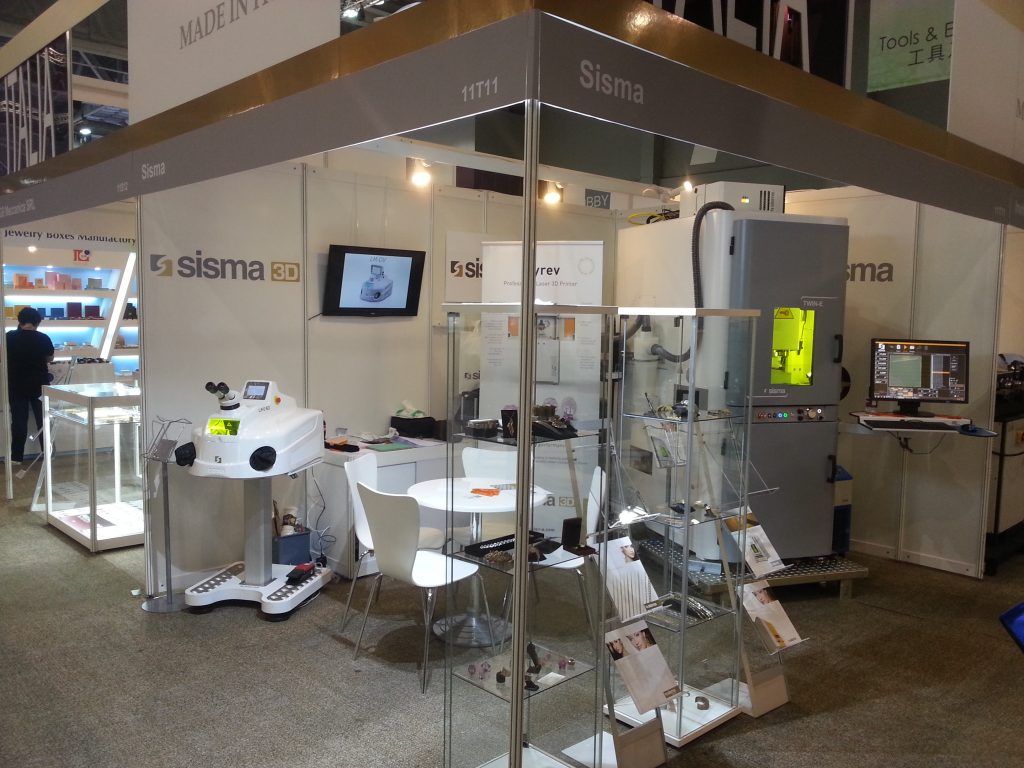 Jewellery Net Asia Show Hong Kong 15-18 Sep 2016 – Sisma Booth